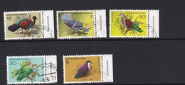 Papua New Guinea SG 333-337 1977 Pigeons Used Set - Papoea-Nieuw-Guinea