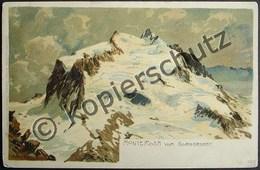 ZERMATT Litho Monte Rosa Vom Gornergrat - VS Valais