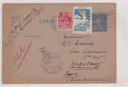 CARTE ENTIER SEMEUSE POUR LES INDES NEERLANDAISES - Biglietto Postale