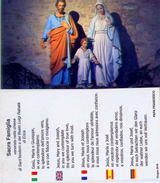 Santino - Sacra Famiglia - Images Religieuses