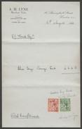 Three Receipts Or Billheads - A H Lyne, Merchant Tailor, London, 1930-33 - Bills Of Exchange