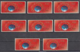 ISRAEL 2008 SIMA KLUSSENDORF ATM CHRISTMAS SEASONS GREETINGS FROM THE HOLY LAND NAZARETH FULL SET OF 8 STAMPS - Viñetas De Franqueo (Frama)