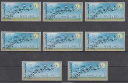 ISRAEL 2009 BIRD OF PASSAGE SIMA KLUSSENDORF ATM FULL SET OF 8 STAMPS - Viñetas De Franqueo (Frama)