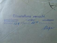 D150910  Austria COVER  -Salzburg  Ca 1962 -St Kathrein P.Koh-Fidisch -Eilzustellung  Versucht - 1961-70 Briefe U. Dokumente