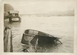 24/01/1912 PARIS COLLISION EN SEINE LE BASTINGAGE ARRIERE DE LA BALAYEUSE DANS LA SEINE - Orte