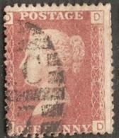 Great Britain 1858 1 D  Plate 203, Alph. DD - Gebraucht