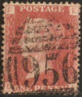 Great Britain 1858 1 D  Plate 101  Alph. EF Cancel 956 Hurstpierpoint - Gebruikt