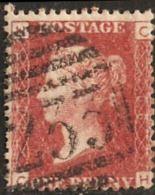 Great Britain 1858 1 D  Plate 206  Alph. NC Cancel 233 Darlington - Gebraucht