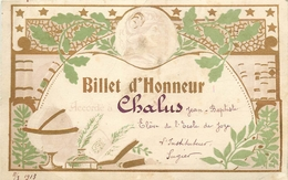 63 - JOZE - CARTE BILLET D' HONNEUR - ECOLE DE JOZE - SIGNE DE L'INSTITUTEUR MONSIEUR SUGIER - Format (8 X 12 Cm) - France