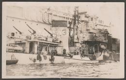 Two Photographs Of HMS Volage & HMS Saumarez With Mine Damage, Corfu, 1946 - War, Military