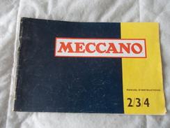 Meccano Manuel D'instructions 2 / 3 / 4 - Meccano