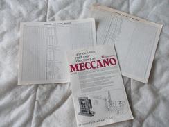Meccano Papiers Divers - Meccano