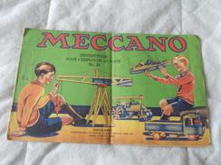 Meccano Instructions Pour L'emploi De La Boite N° 2a - Meccano
