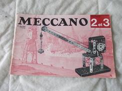 Meccano Manuel D'instructions Pour Boites 2 Et 3 Triang - Meccano