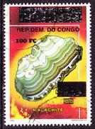 Timbre Oblitéré N° 1531(Michel) Congo 2000 - Minéraux, Malachite, Surchargé - République Démocratique Du Congo (1997 -...)