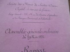 Plaquette Rapport Conseil D'administration Société Des Mines D'or De Santa Cruz 29/05/1884. Panama - Documents Historiques