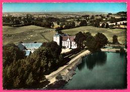 En Avion Au Dessus De Saint Martin Du Puy - Château De Vesigneux - Vue Aérienne - Édit. SOFER - Colorisée - Other Municipalities