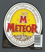 Etiquette Biere M Metéor Pils Hochfelden  Bière D'Alsace  75cl 4,9% Alc Vol - Bier