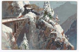1900, Zeno Diemer, Januar - Treno Spartineve Su Un Ponte. - Diemer, Zeno