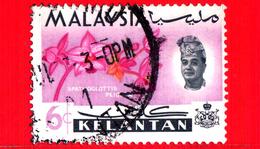 MALESIA - MALAYSIA - Usato - 1965 - KELANTAN - Orchidee - Spathoglottis Plicata - Sultano Yahya Petra - 6 - Malesia (1964-...)