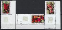 """Polynésie YT 83 à 85 """" Journée Des Mille Fleurs """" 1971 Neuf** BDF Daté - Unused Stamps"""