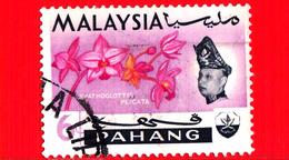 MALESIA - MALAYSIA - Usato - 1965 - PAHANG - Orchidee - Spathoglottis Plicata - Sultano Abu Bakar - 6 - Malesia (1964-...)