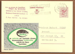 Pub 2245F. Raticide.Rattengif - Stamped Stationery