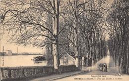 78-MANTES- L'ILE AUX DAMES ET LA SEINE , INONDATION 1910 - Mantes La Jolie