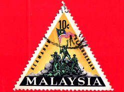 MALESIA - MALAYSIA - Usato - 1966 - Inaugurazione Del Monumento Nazionale - 10 - Malesia (1964-...)