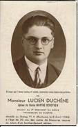 GUERRE 40-45 - Lucien DUCHENE Epx De Marthe SCHEYVEN Décédé Au Stalag VI A (BOCHUM) Le 8 Avril 1943 - Todesanzeige