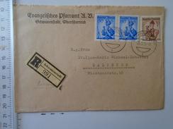 D150916 Austria Registered COVER  Ev. Pfarramt  Schwanenstadt -  Salzburg 1956 - 1945-60 Storia Postale