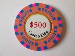 Lido Token Casino 500 $/Jeton De Casino Lido 500 $.Diameter/diametre=42 Mm - Casino