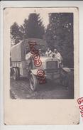 Au Plus Rapide Carte Photo Militaire André Sénéquier * Au Volant De Son Camion Berliet Très Beau Plan - War 1914-18
