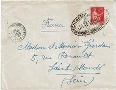 CTN49/10 - LETTRE AU DEPART DE POINTE NOIRE (CONGO) 24/1/1936 CACHET DE PAQUEBOT JAMAIQUE DES CHARGEURS REUNIS - Marcophilie (Lettres)
