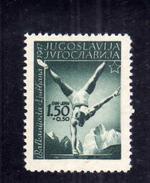 JUGOSLAVIA YUGOSLAVIA 1947 SPORTS BALKAN GAMES Ljubljana. SPORT 1.50 D + 50 P MNH - 1945-1992 Repubblica Socialista Federale Di Jugoslavia