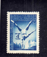 JUGOSLAVIA YUGOSLAVIA 1947 SPORTS BALKAN GAMES Ljubljana. SPORT 4 D + 50 P MLH - 1945-1992 Repubblica Socialista Federale Di Jugoslavia