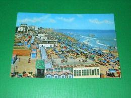 Cartolina Misano Adriatico - Spiaggia 1970 - Rimini