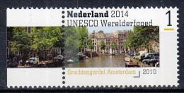 Nederland - Uitgiftedatum 11 Augustus 2014 – UNESCO Werelderfgoed - Grachtengordel Amsterdam - MNH/postfris - Periode 2013-... (Willem-Alexander)