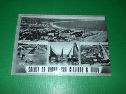 Cartolina Saluti Da Rimini - San Giuliano A Mare - Vedute Diverse 1950 Ca - Rimini