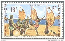 "Polynésie Aerien Yt 21 (PA 21) "" Danse Tahitienne "" 1966 Neuf** - Airmail"