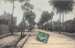 78-BONNIERES-SUR-SEINE- AVENUE DE PARIS ET MANTES - Bonnieres Sur Seine