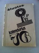 Lithuania Litauen Humorous Book Calendar 1976 - Boeken, Tijdschriften, Stripverhalen