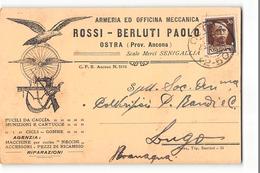 B517 OSTRA ROSSI BERLUTI ARMERIA X LUGO - Marcophilie