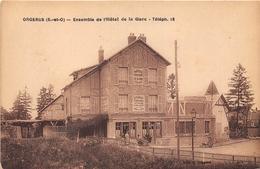 78-ORGERUS- ENSEMBLE DE L'HÔTEL DE LA GARE - France
