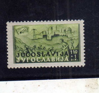 JUGOSLAVIA YUGOSLAVIA 1947 YOUNG RAILWAY LABORERS Samac-Sarajevo 1.50 D + 1 MLH - 1945-1992 Repubblica Socialista Federale Di Jugoslavia