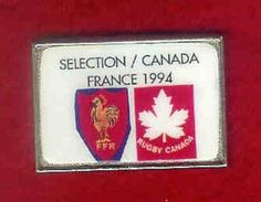 @@ Rugby Coq Sportif FFR Sélection France Canada 1994 (3.2x2.2) @@sp186 - Rugby