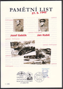 Czech Rep. / Commemorative Sheet (PaL 2009/04) Praha 85: Operation Anthropoid (assassination Of Reinhard Heydrich, 1942) - Tramways