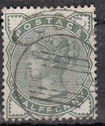 Grande Bretagne YT N°67 1880  1/2p Vert - 1840-1901 (Victoria)