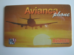 1 Remote Phonecard From Colombia - Avianca Phone - Plane - Colombia