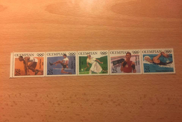 """U.S.A. """"American Olympic Gold Winners Through History"""", Strip Of 5, Anno 1990 - Nuovi"""